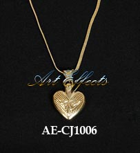 Gold Plated Heart Shape Keepsake Pendant